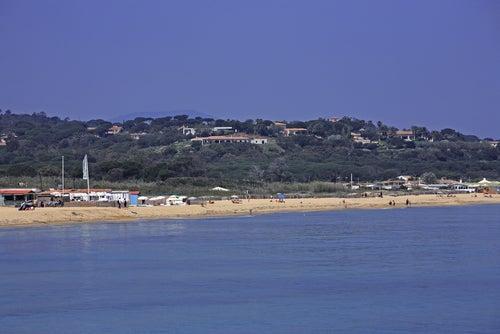 Playa dePampelone en la Costa Azul