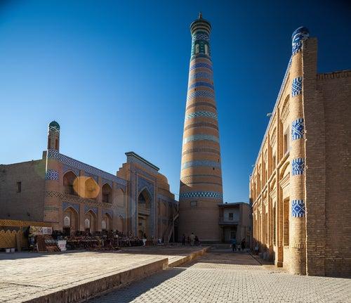 Minarete Islam Khodja en Khiva