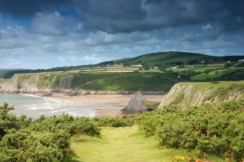 Vistas de Gran Bretaña, The Three Cliffs Bay