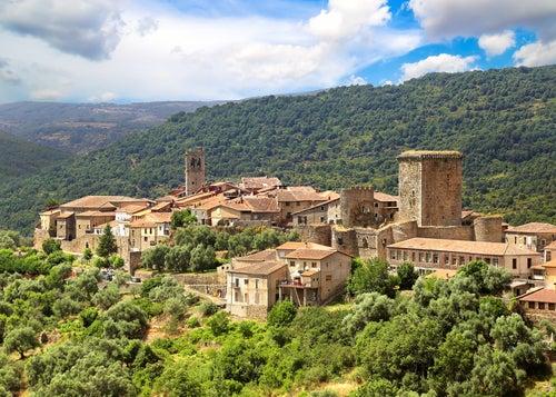 Vista de Miranda del Castañar,uno de los pueblos más bonitos de España