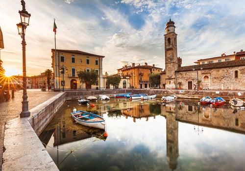 Lazise en el Lago di Garda