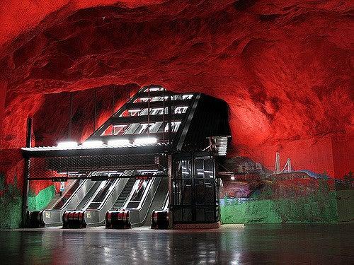 Solna Centrum en el metro de Estocolmo
