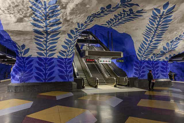 8 instantáneas que muestran el espectacular metro de Estocolmo