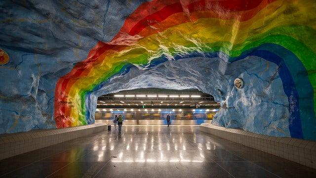Estación de metro en Estocolmo