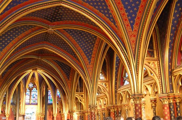 Detalle de la Chainte Chapelle en París