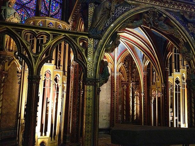 Capilla inferior de la Sainte Chapelle en PArís
