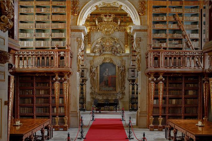 Bibilioteca Joanina en Coimbra, Portugal