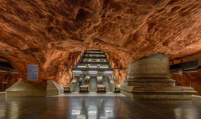 Radhuset en el metro de Estocolmo