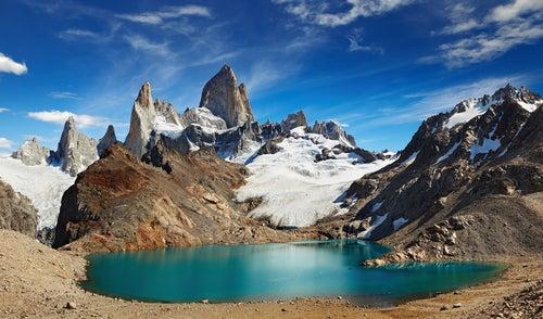 La Laguna de los Tres, vecina del glaciar Perito Moreno