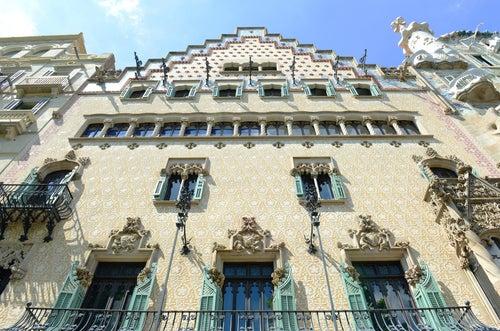 Casa Amatller en el Paseo de Gracia de Barcelona