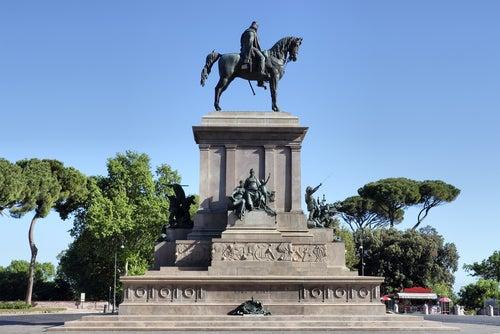 Monumento a Garibaldi en Roma