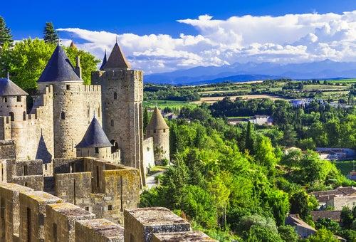 Carcassonne en el sur de Francia
