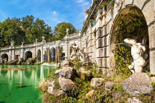 Fontana di Eolo en los Jardines de Caserta