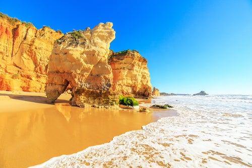 Praia da Rocha en el Algarve