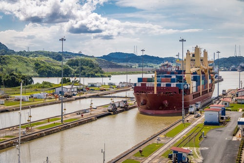 Vista del canal, uno delos lugares de Panamá más conocido