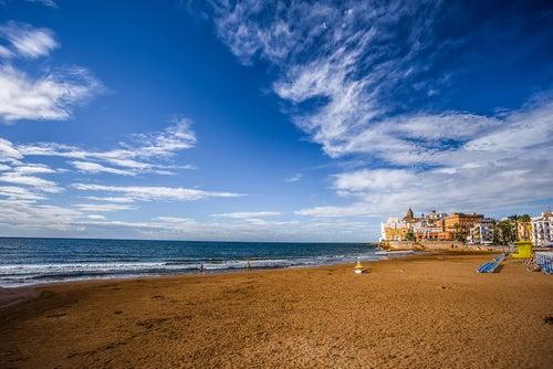 Playa de San Sebastián en Sitges