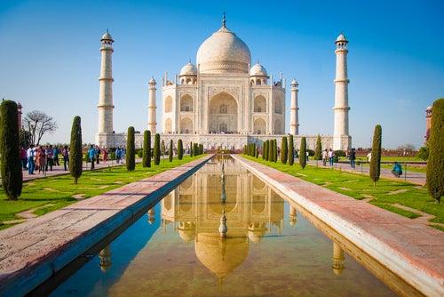 El Taj Mahal en la India.