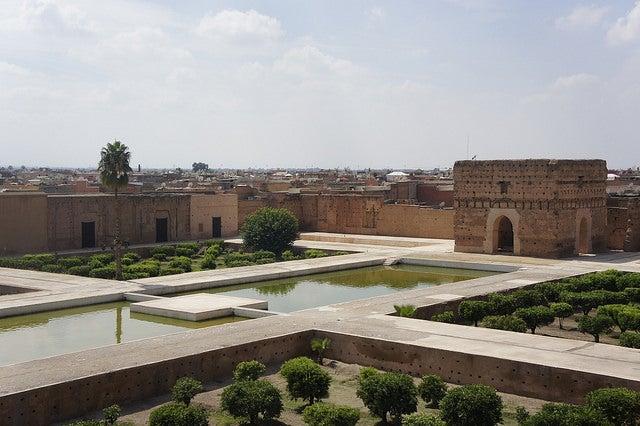 Palacio el Badi en la ciudad imperial de Marrakech