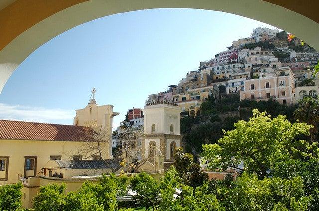 Vista de Positano desde le Palacio Murat