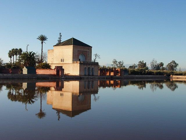 Jardines deMenara en la ciudad imperial de Marrakech