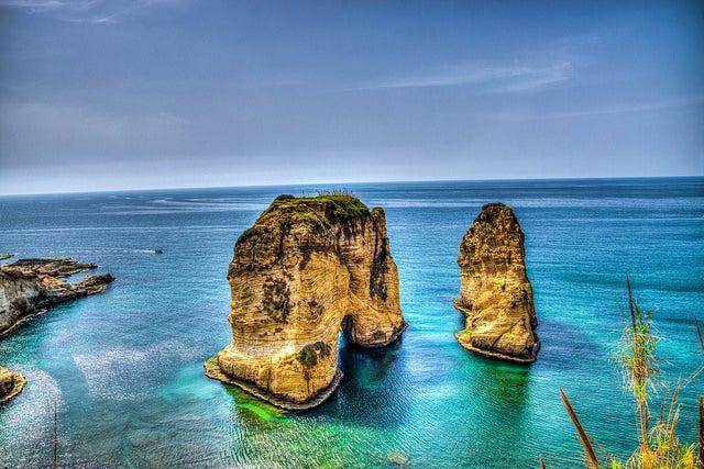 Roca de las Palomas en Beirut