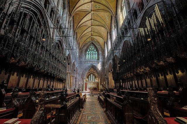 REincones de Chester, interior de la catedral