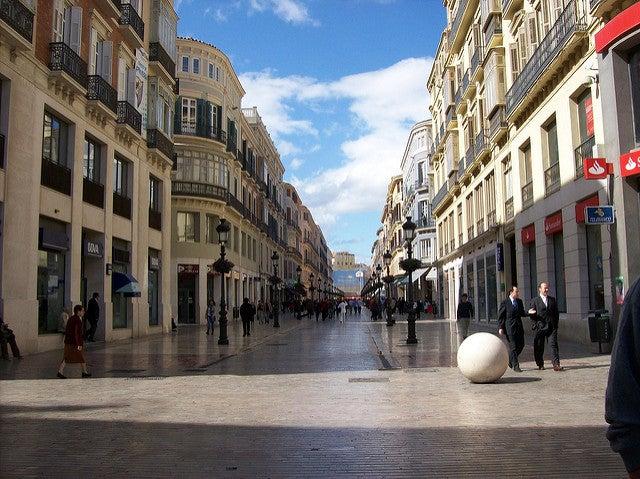 Rincones de Malaga, calle marqués de Larios