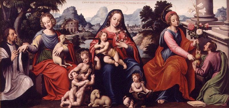 Bodas místicas del venerable Agnesio, obra de la pintura renacentista española