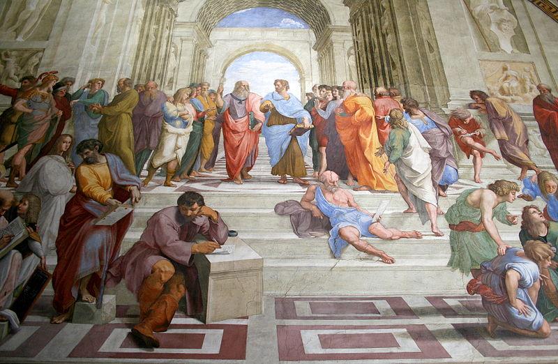 La escuela de Atenas, de Rafael, uno de los pintores del Renacimiento.
