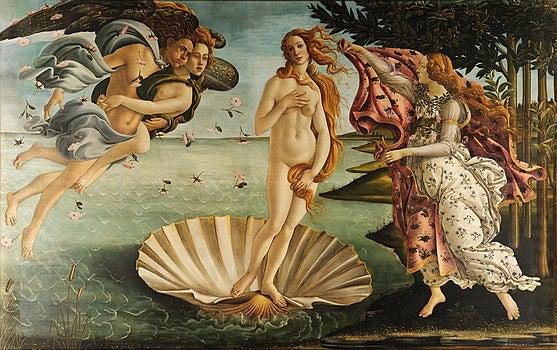 El nacimiento de Venus, obra del renacimiento de Italia