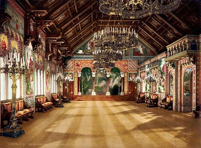 Sala de los Cantores del castillo del Rey Loco