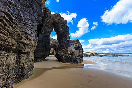 La playa de las Catedrales, una de las más bellas de Galicia