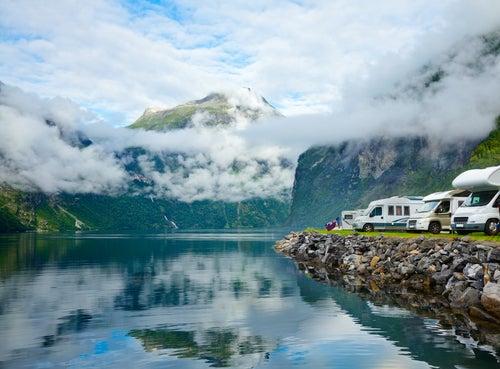 Camping para viajes en autocaravana en Noruega