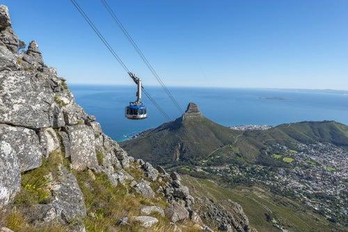 Teleférico de la Montaña de la Mesa en Ciudad del Cabo