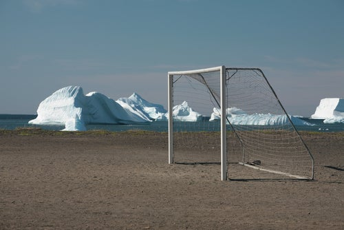 Portería de fútbol en uno de los países menos conocidos