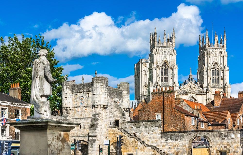 Vista de York en Inglaterra