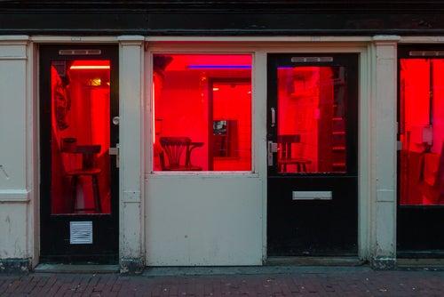 Local en el Barrio Rojo de Ámsterdam