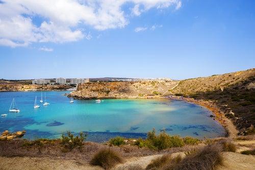 Gnejna Bay, una de las playas de Malta