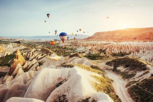Viaje en globo sobre Capadocia
