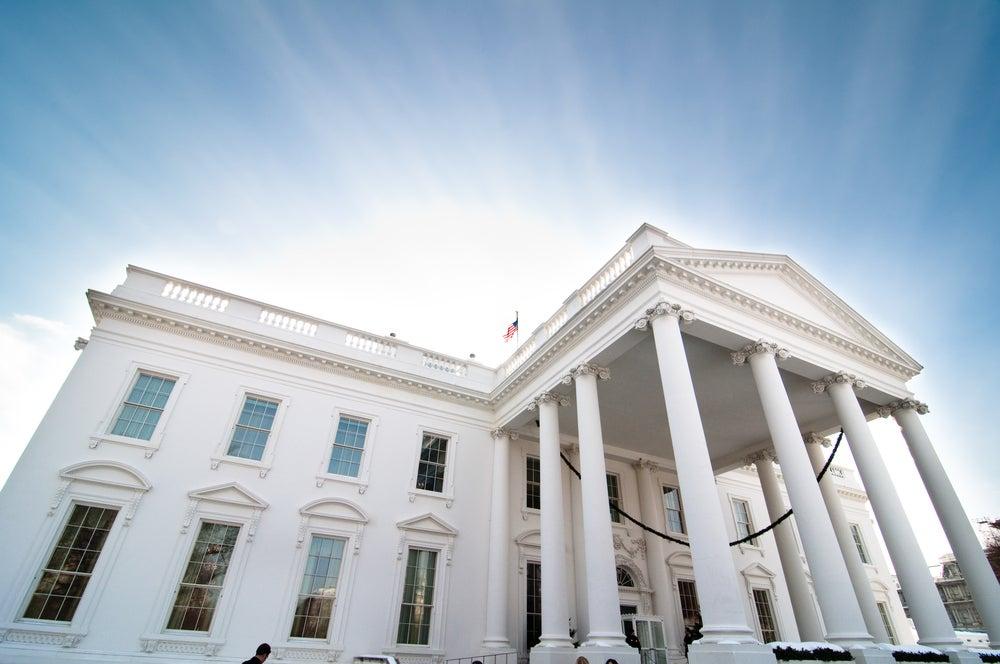 Pórtico norte de la Casa Blanca