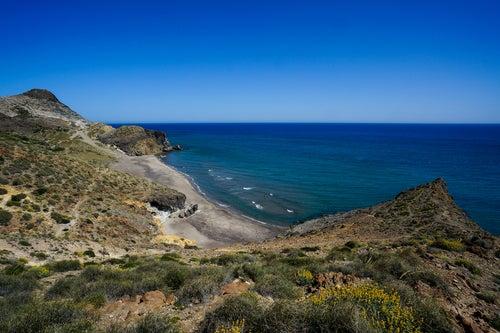 Playas nudistas de España, el Barronal en Níjar