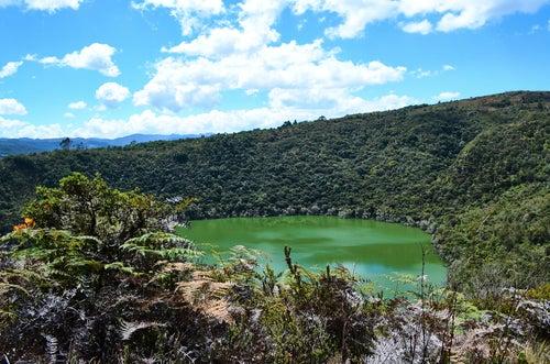 Lago Guatavita en Colombia