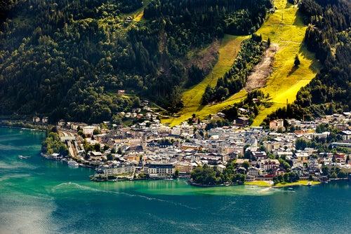 Zell am See en el lago Zell