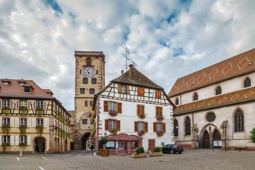 Vista de Ribeauville en Alsacia
