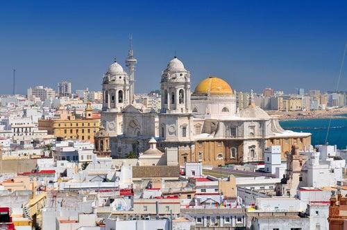 Vista de Cádiz capital desde la torre de Tavira