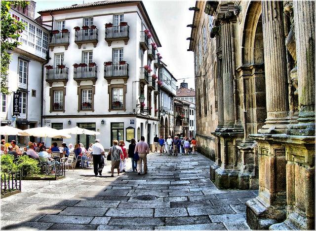 alojarse en Santiago de Compostela, centro de la ciudad
