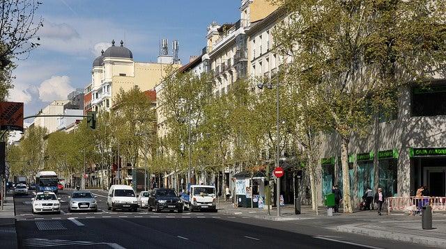 Calle Serrano en Madrid