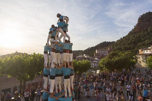 Castellers en Costa Brava