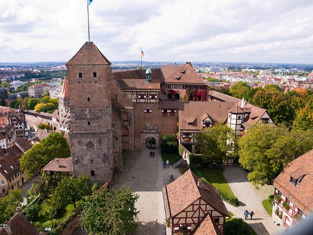 Castillo de Núremberg en Baviera