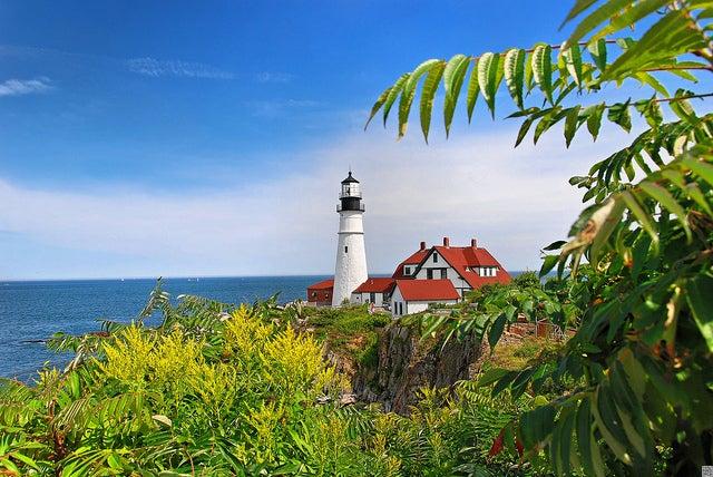 Faro de Portland en Nueva Inglaterra